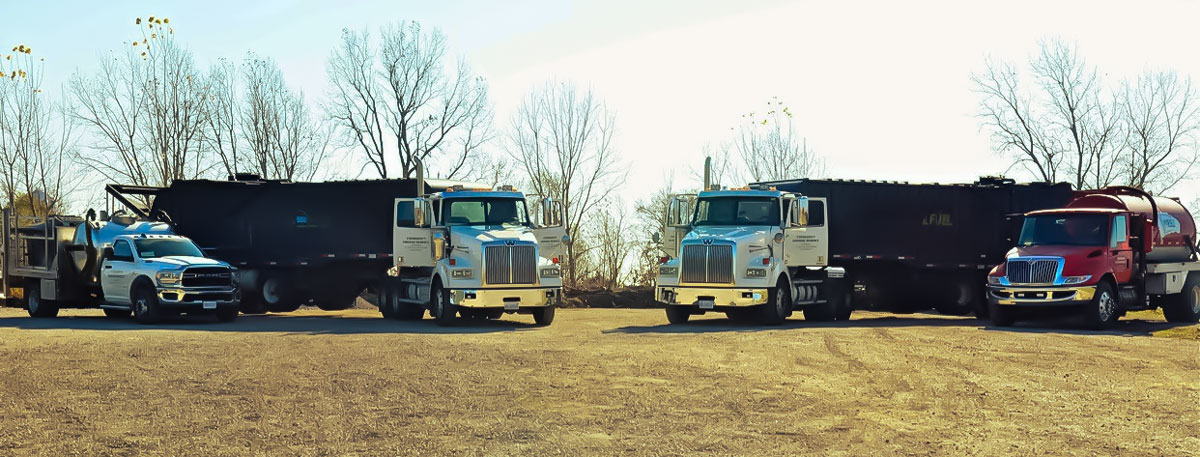Evergreen Fats Oils & Grease Management Services - Our Fleet of Vehicles