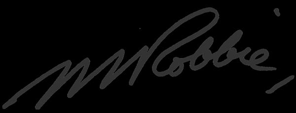 Max Robbie Signature