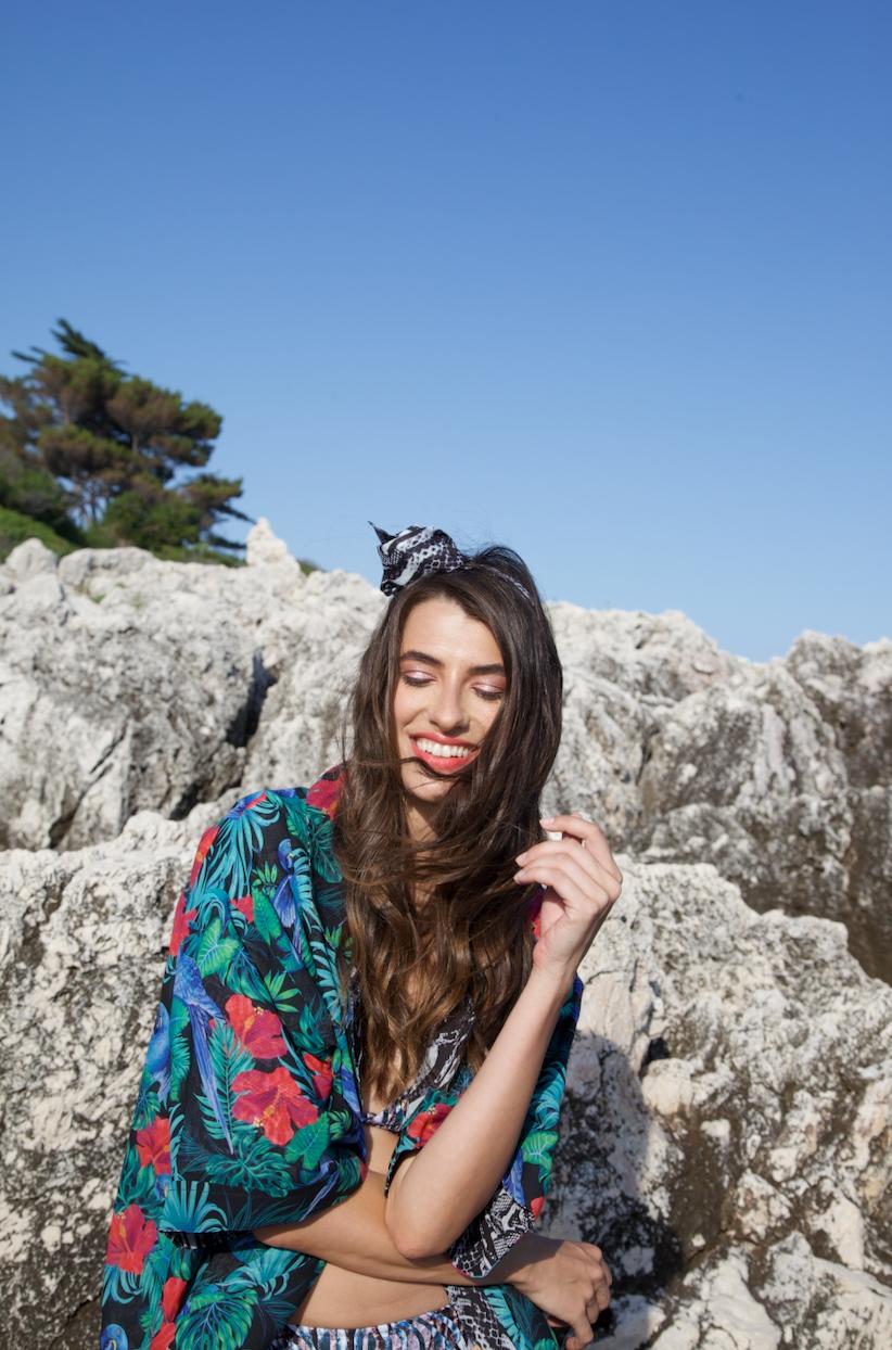 Gabriele in our 'Kiara' kimono.