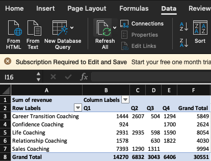 Refresh Your SQL to Excel Dashboard Refresh