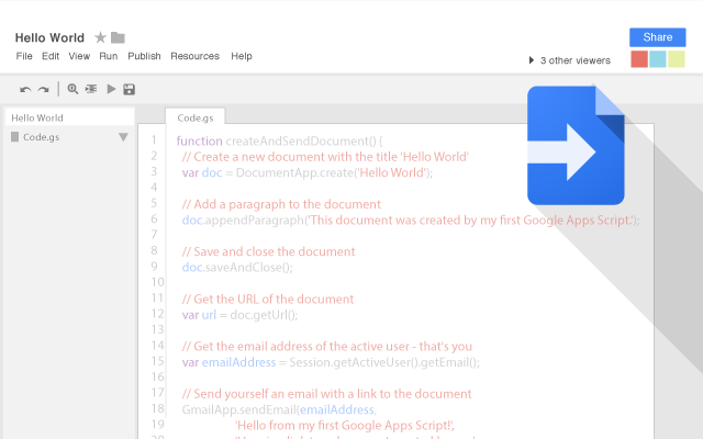 Google Apps Script Interface
