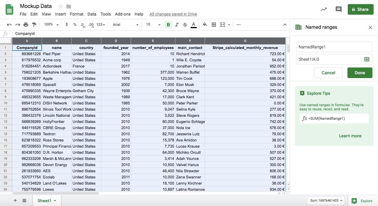 Query 2 data googlesheets