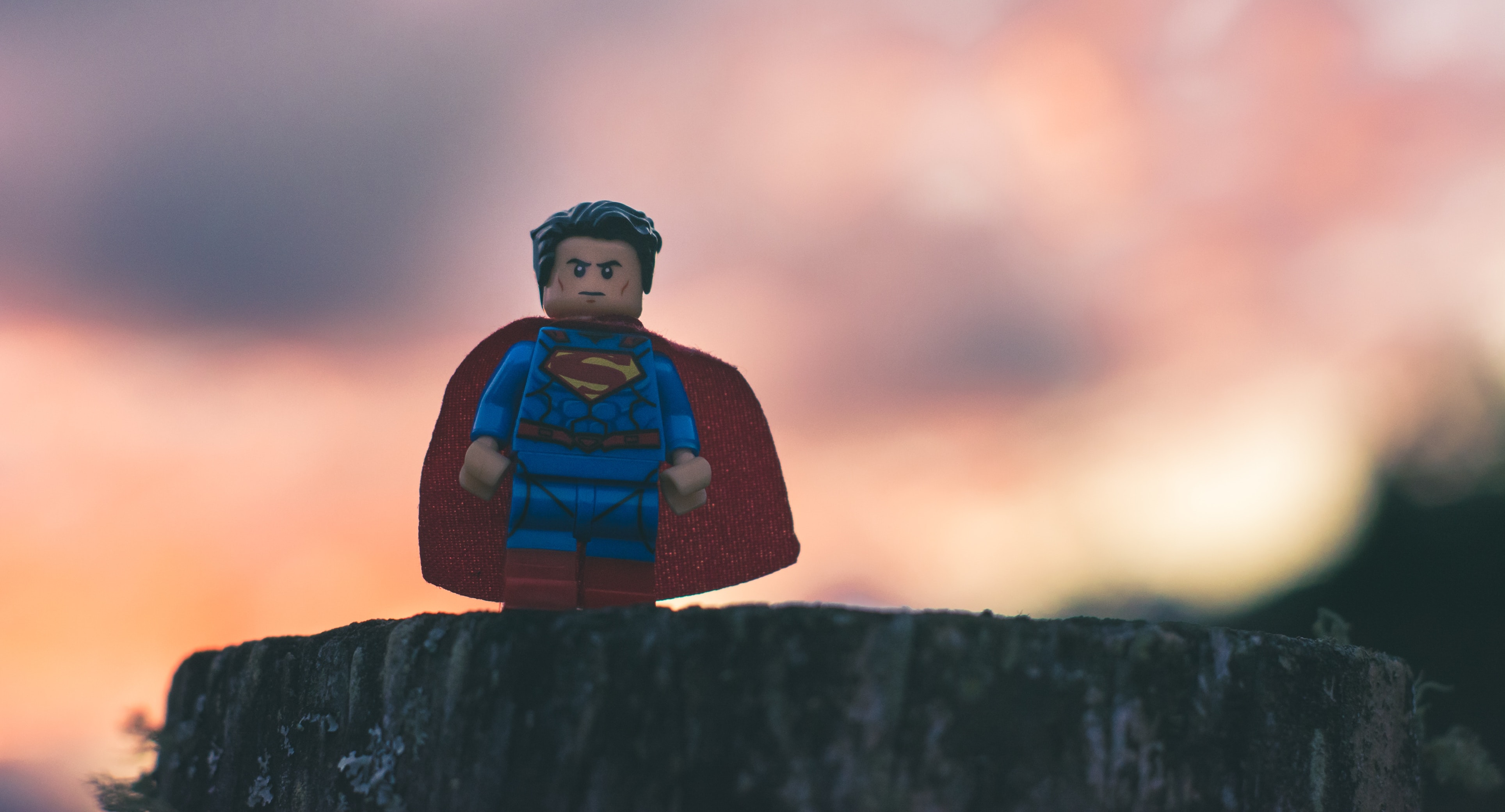 Superman Playmobile on a montain