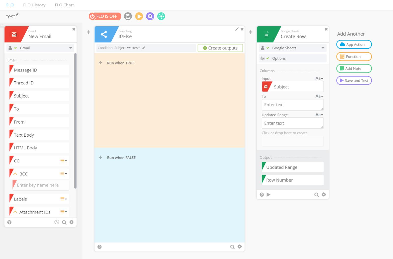 Azuqua interface sreenshot