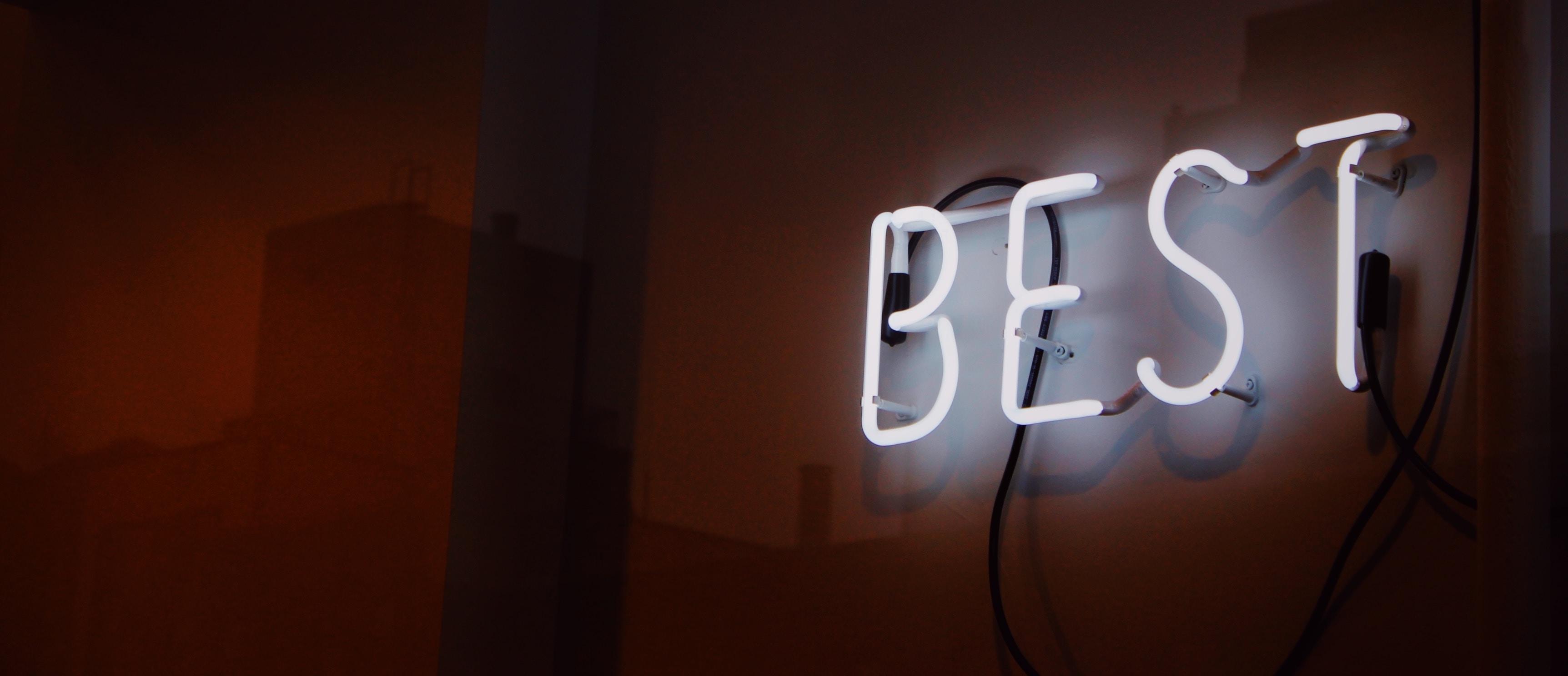 """""""Best"""" written with neon"""