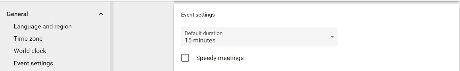 Calendar shortcut screenshot