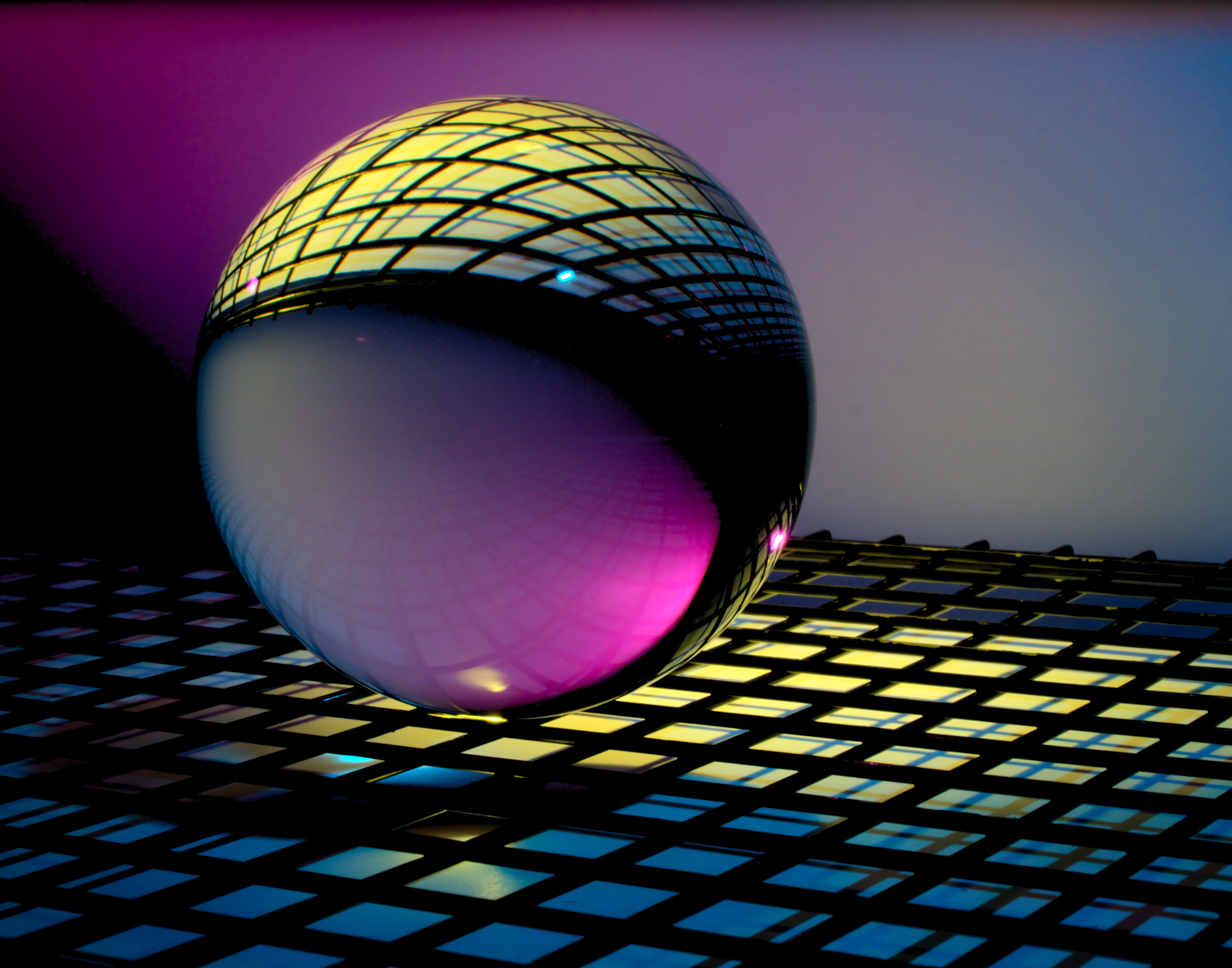 blue and black ball