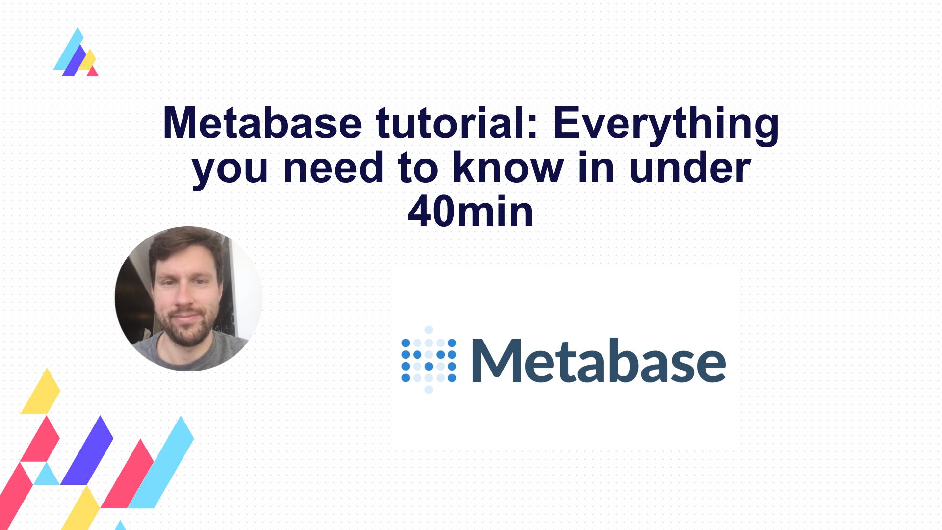 Metabase step by step tutorial