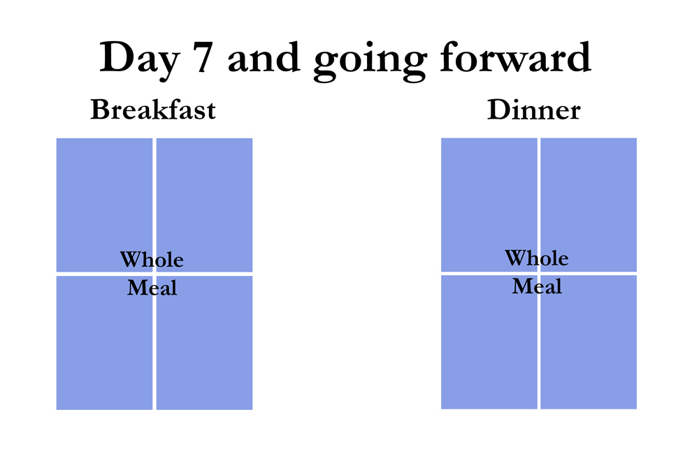 Chart shows after day 7 use only new food