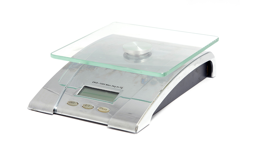 Scale for weighing the ingredients.