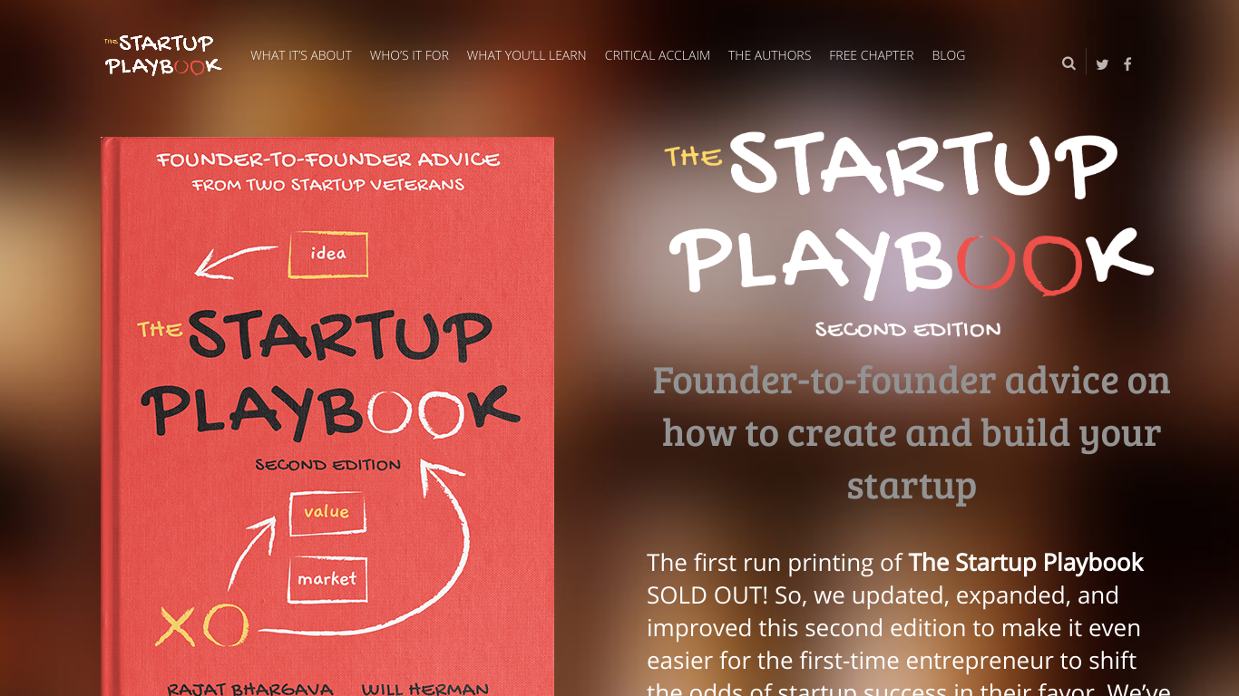 Startup Playbook Second Edition