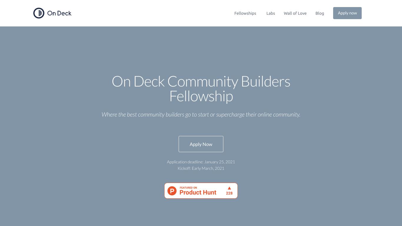 On Deck Community Builders Fellowship