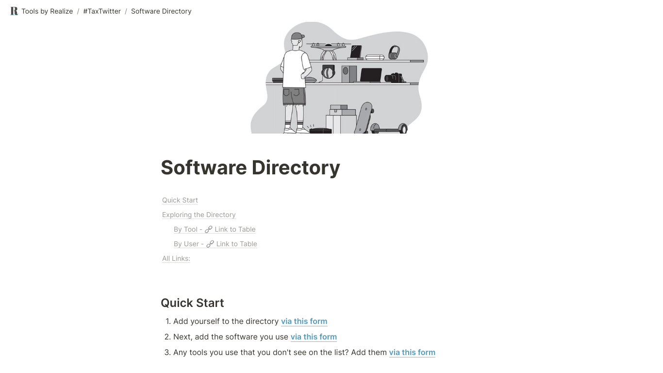 TaxTwitter Software Directory