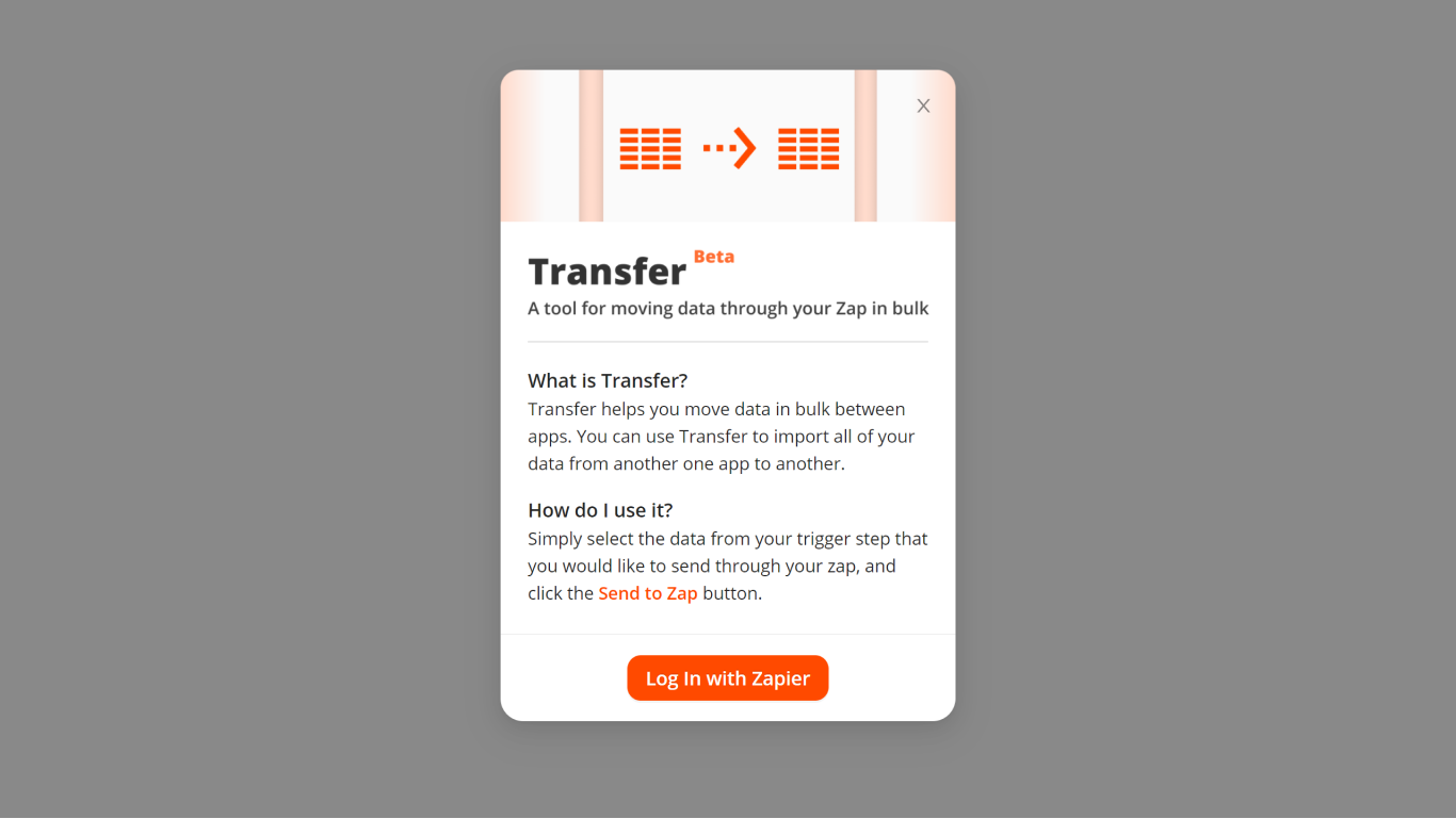 Zapier Transfer