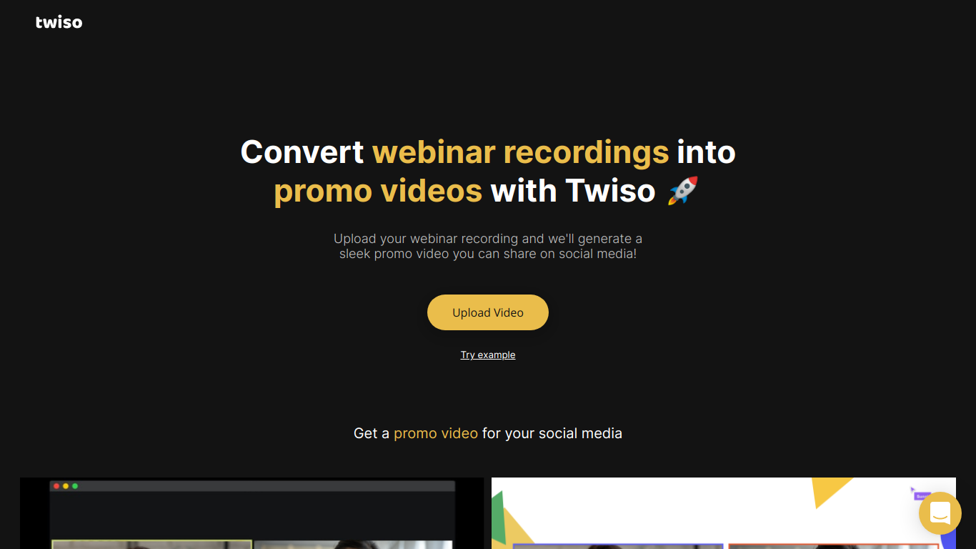 Twiso for Video