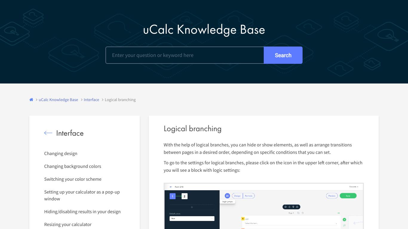 uCalc Logic Jumps