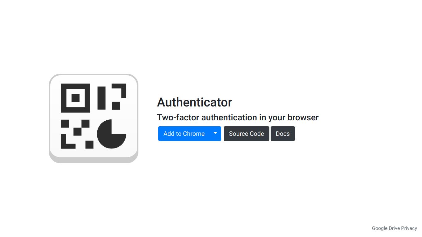 Authenticator Extension
