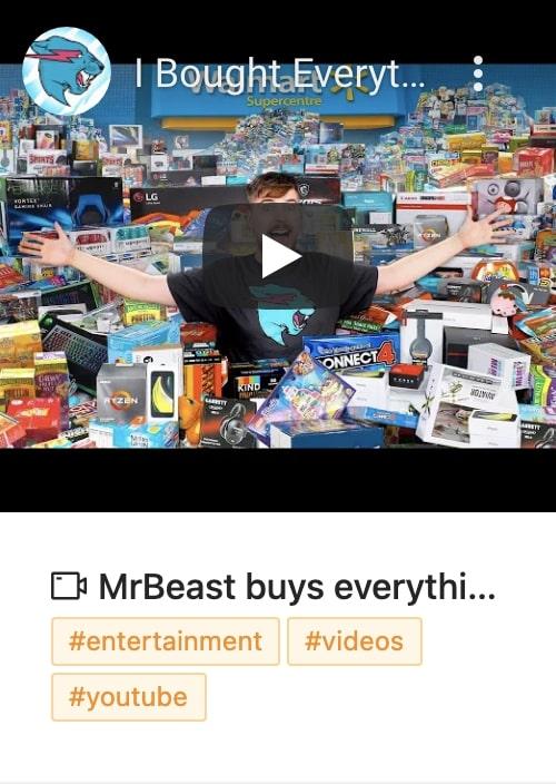 Mr Beast Video Save