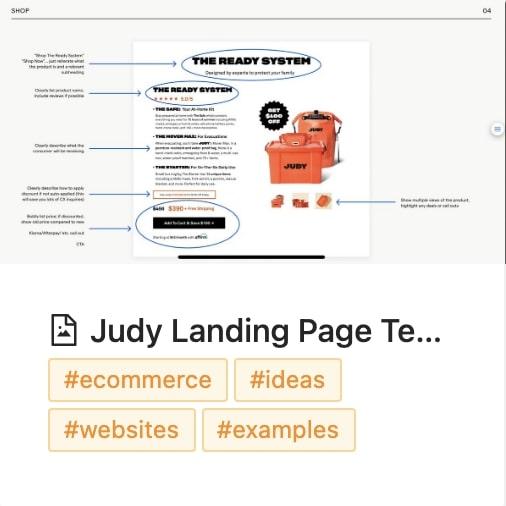 JUDY Image Save