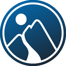 Company Logo: a path on a mountain leading to the light