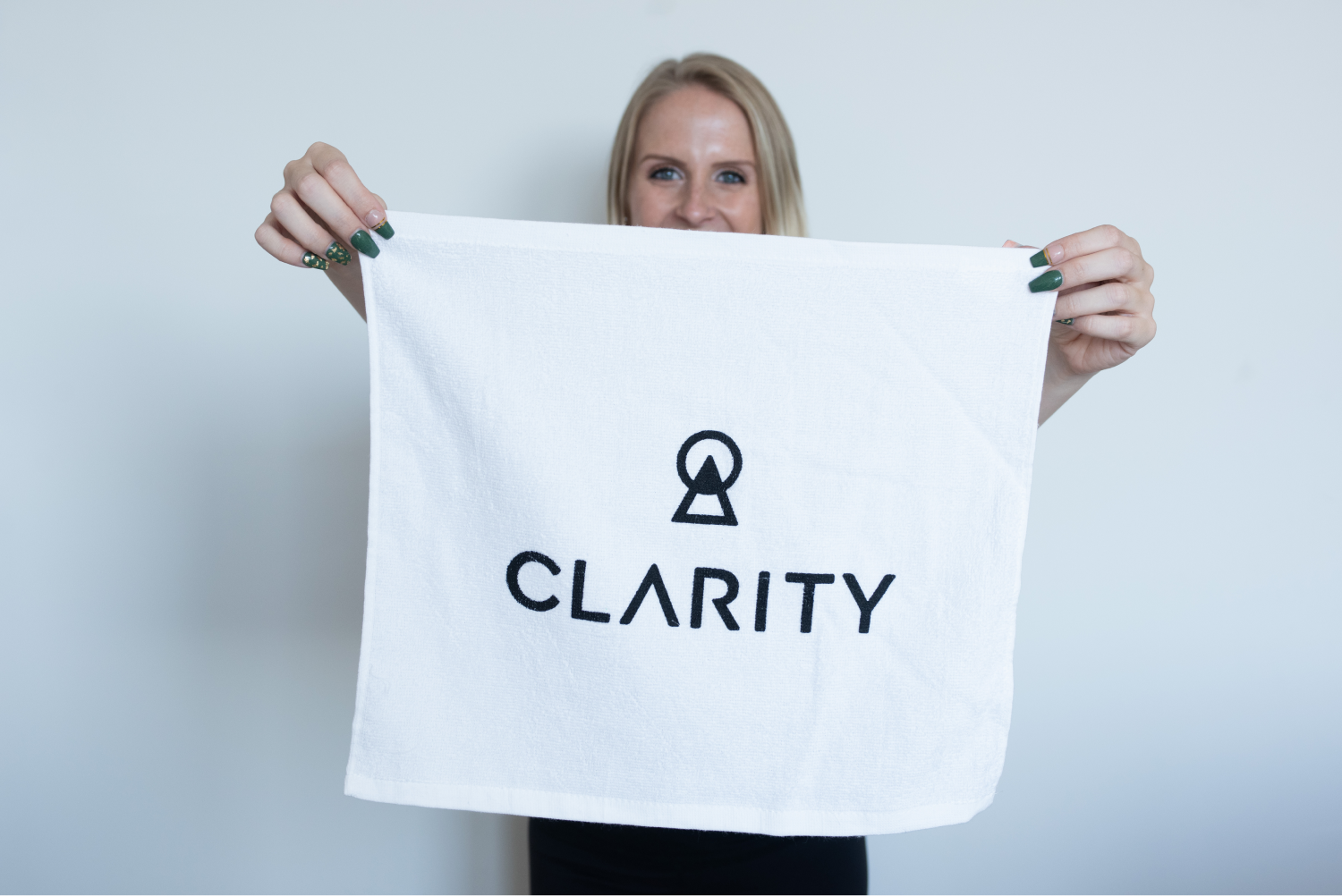 White Clarity Rally Towel