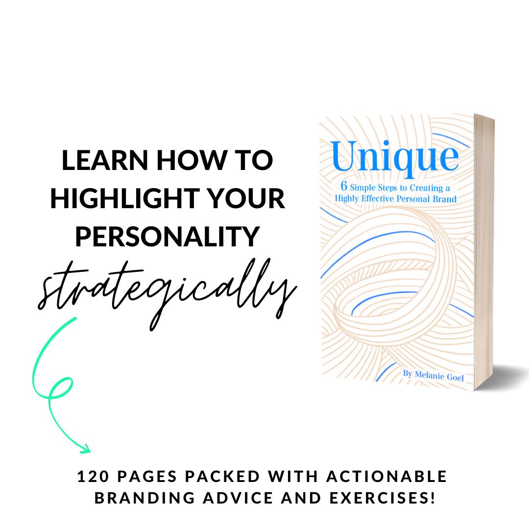 melaniegoel unique paperback personal branding 6 simple steps