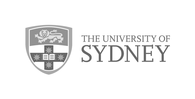 Sydney Uni logo greyscale