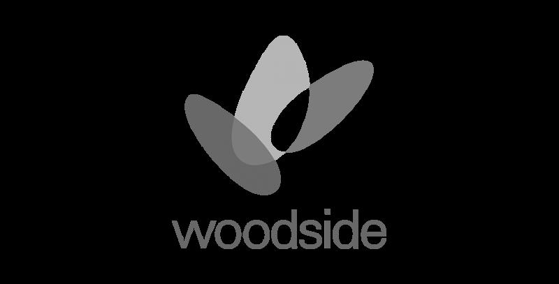 Woodside logo greyscale