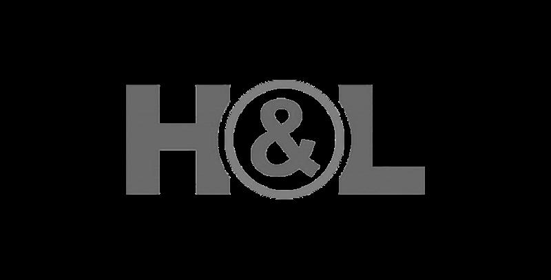 H&L logo greyscale