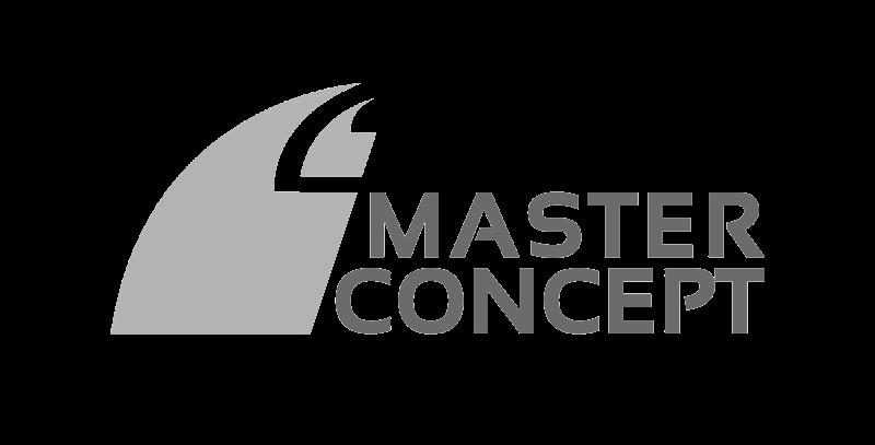 master concept logo greyscale
