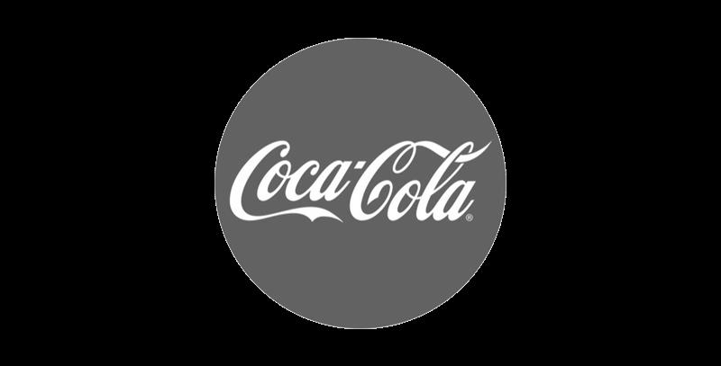 coca cola logo greyscale