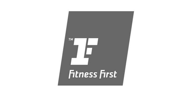 Fitness First logo greyscale