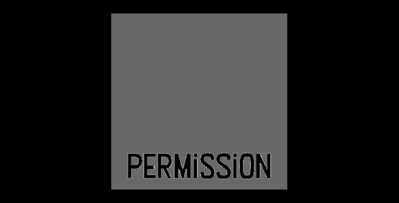 permission logo greyscale