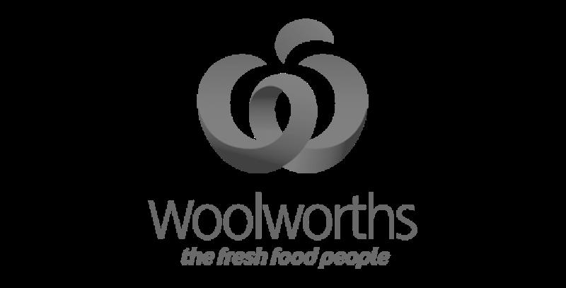 Woolowrths logo greyscale