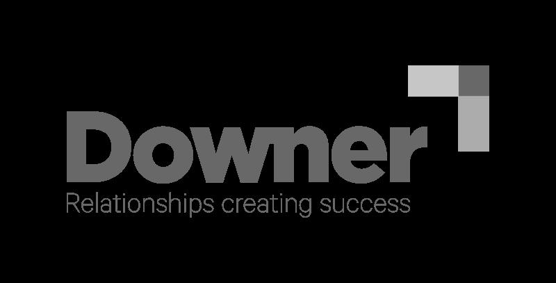 Downer logo greyscale