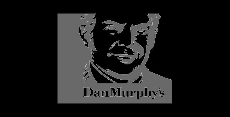 Dan Murphys logo greyscale