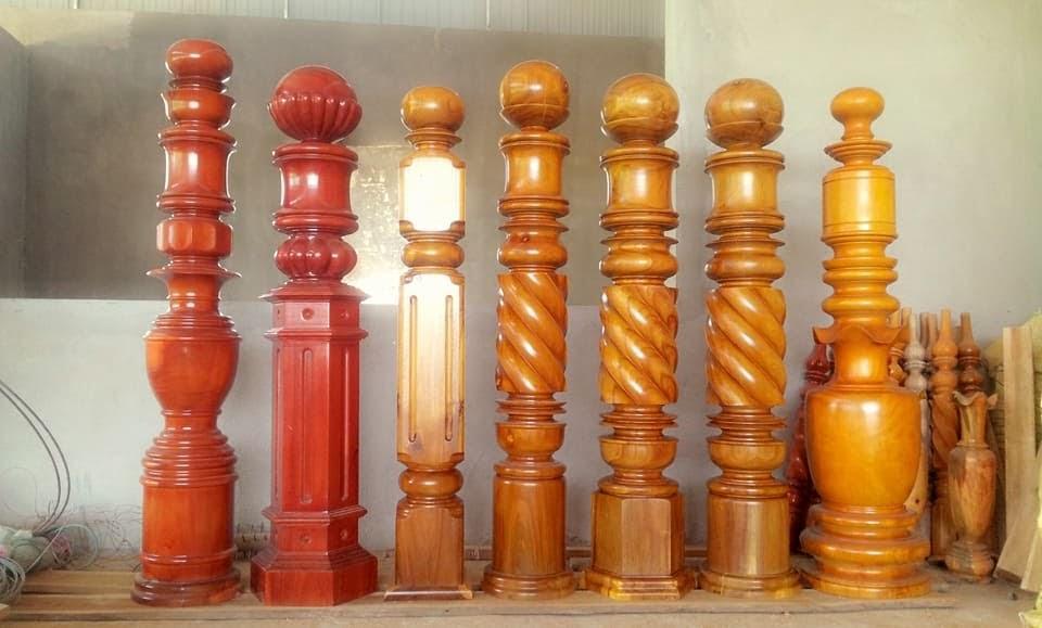 các mẫu trụ cầu thang gỗ phổ biển hiện nay