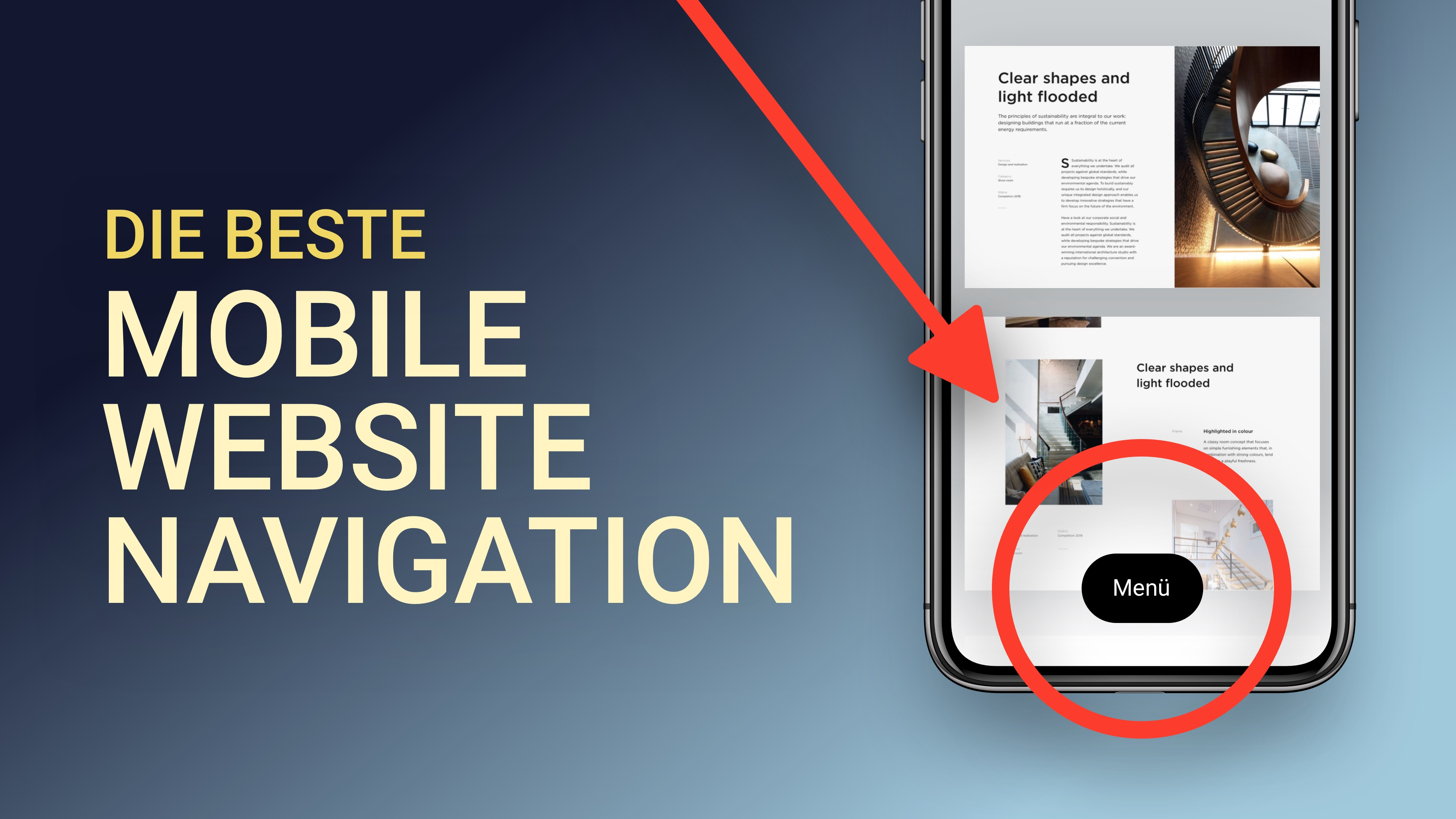 Die beste mobile Website Navigation bauen (gute UX)