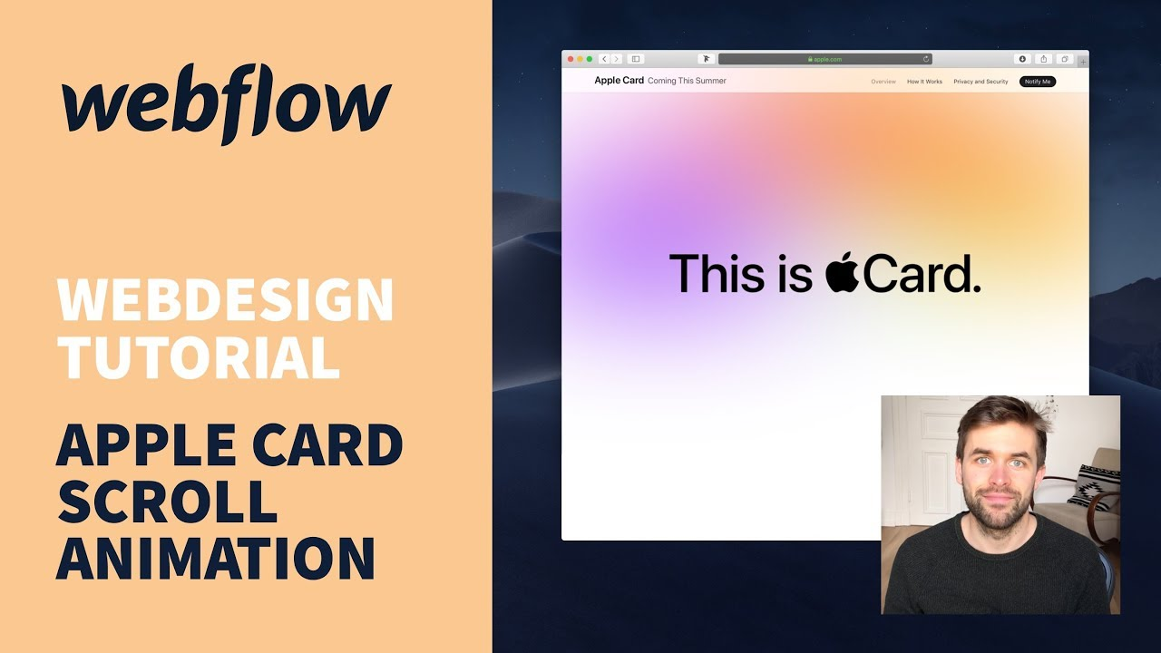 Apple Card Scroll Animation mit Webflow bauen