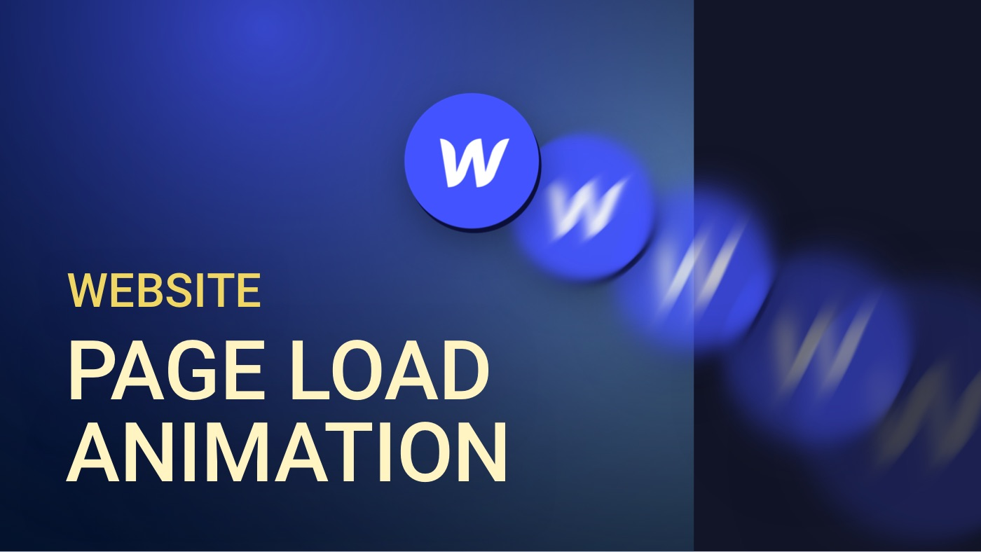 Eigene Website Page Load Animation in Webflow erstellen