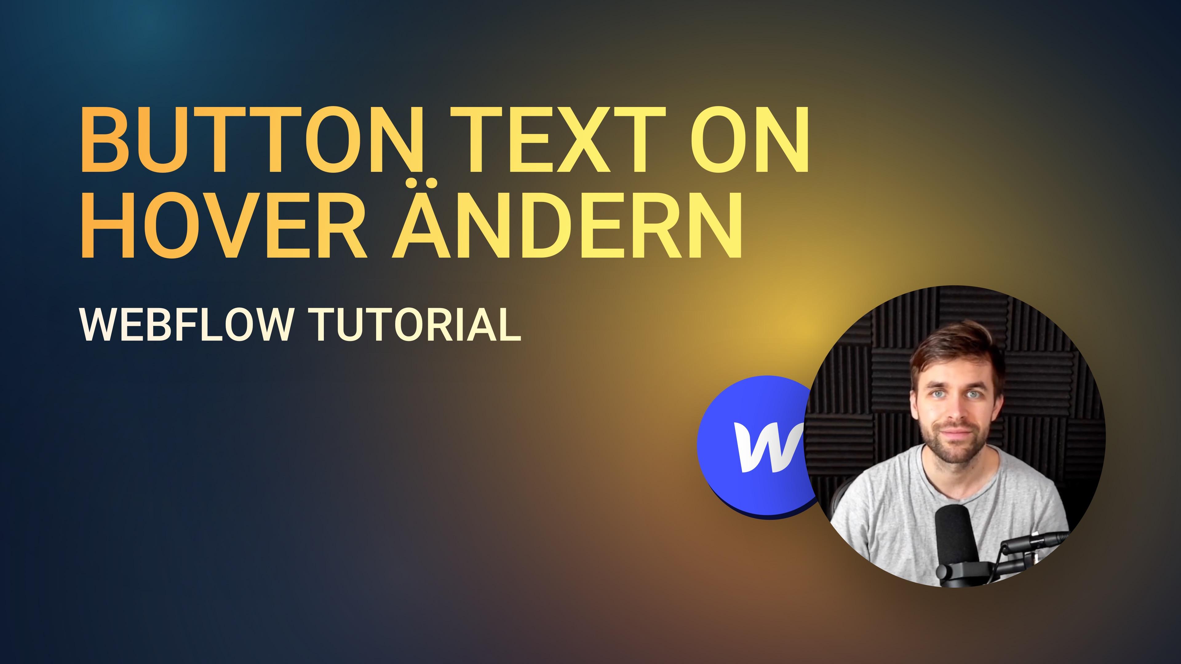 Einen Button Text on hover austauschen