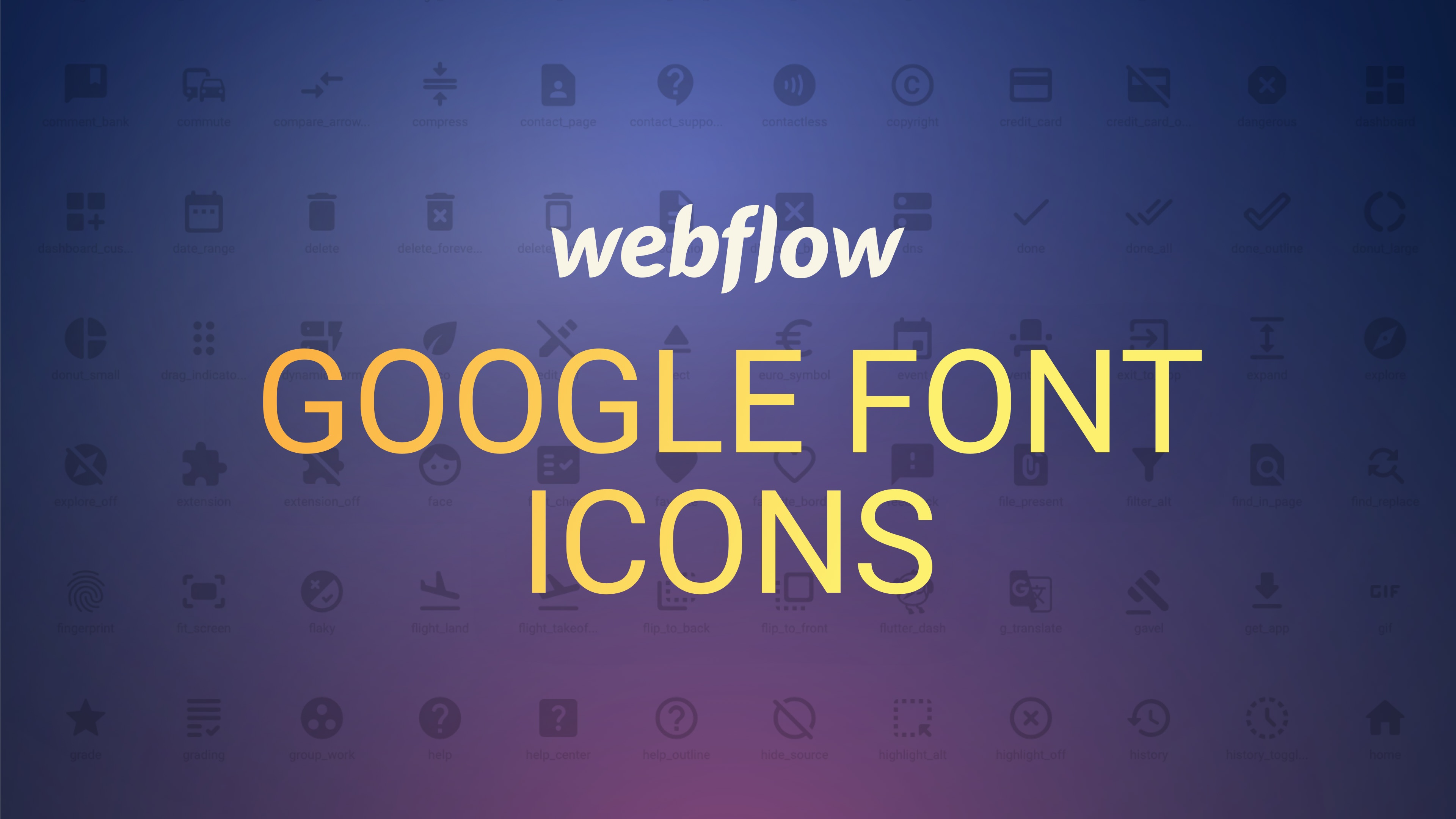 Icons in Webflow mit Google Fonts einbinden
