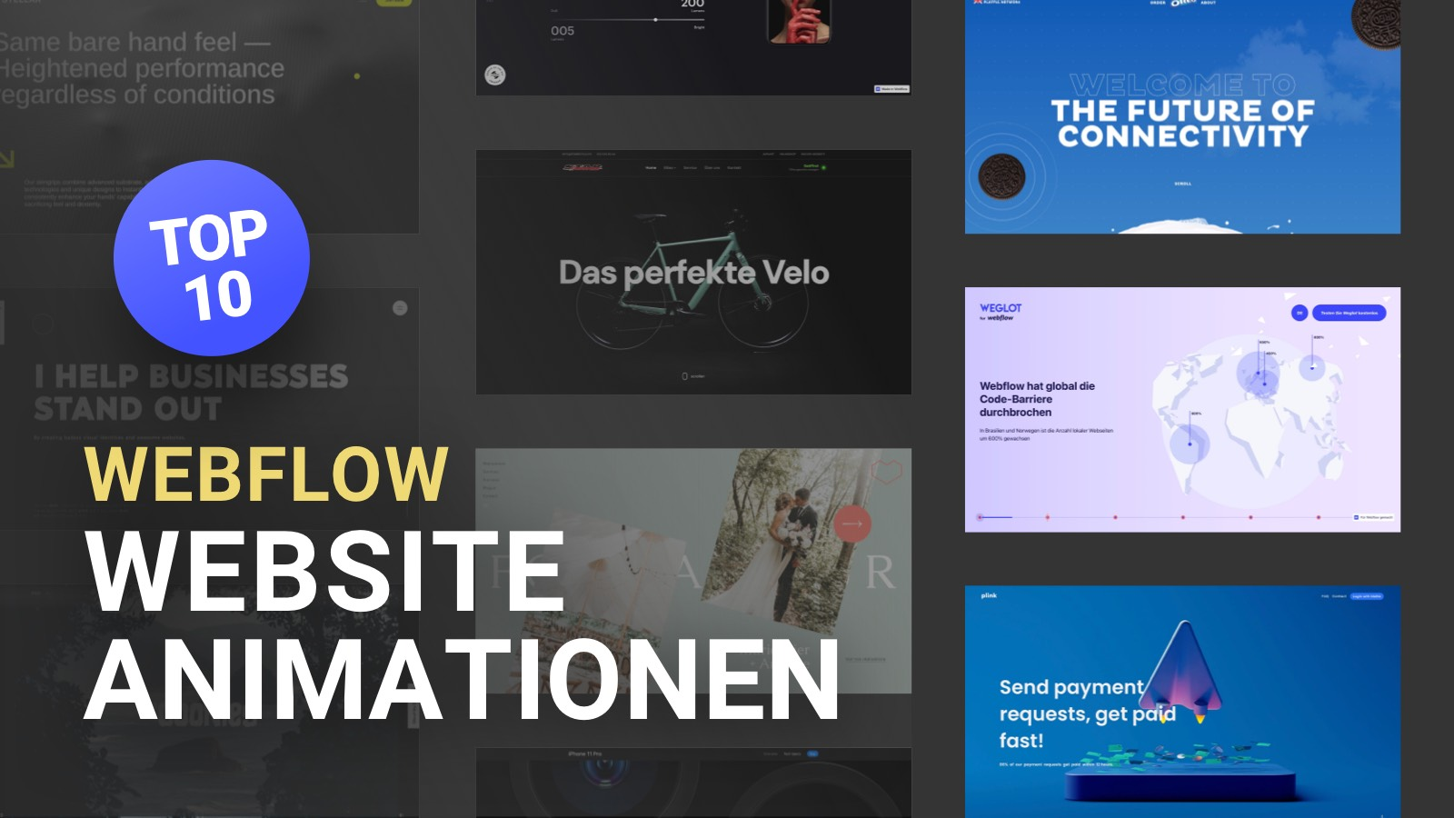 10 beeindruckende Webflow Website Animationen (2021)