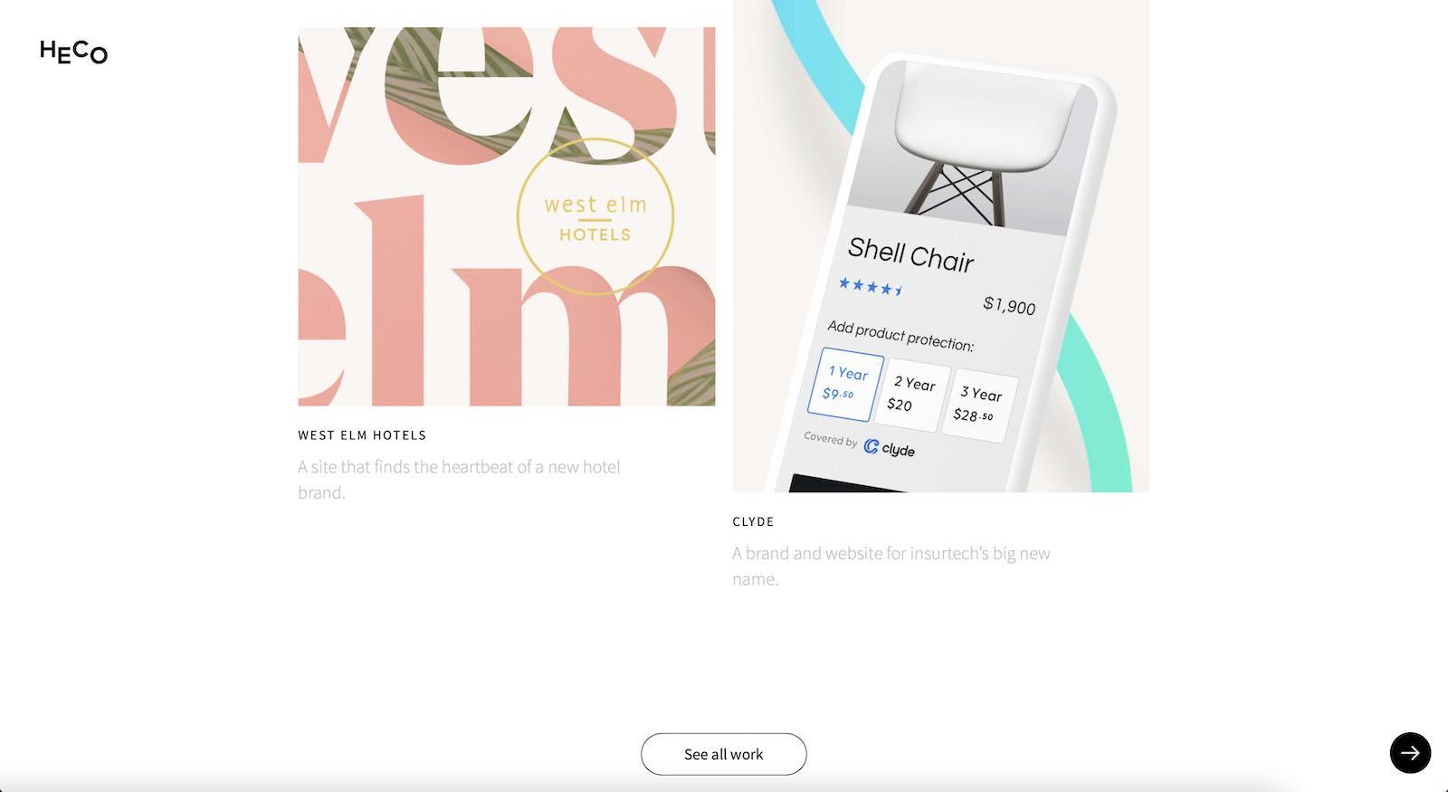 Heco Portfolio Website Layout