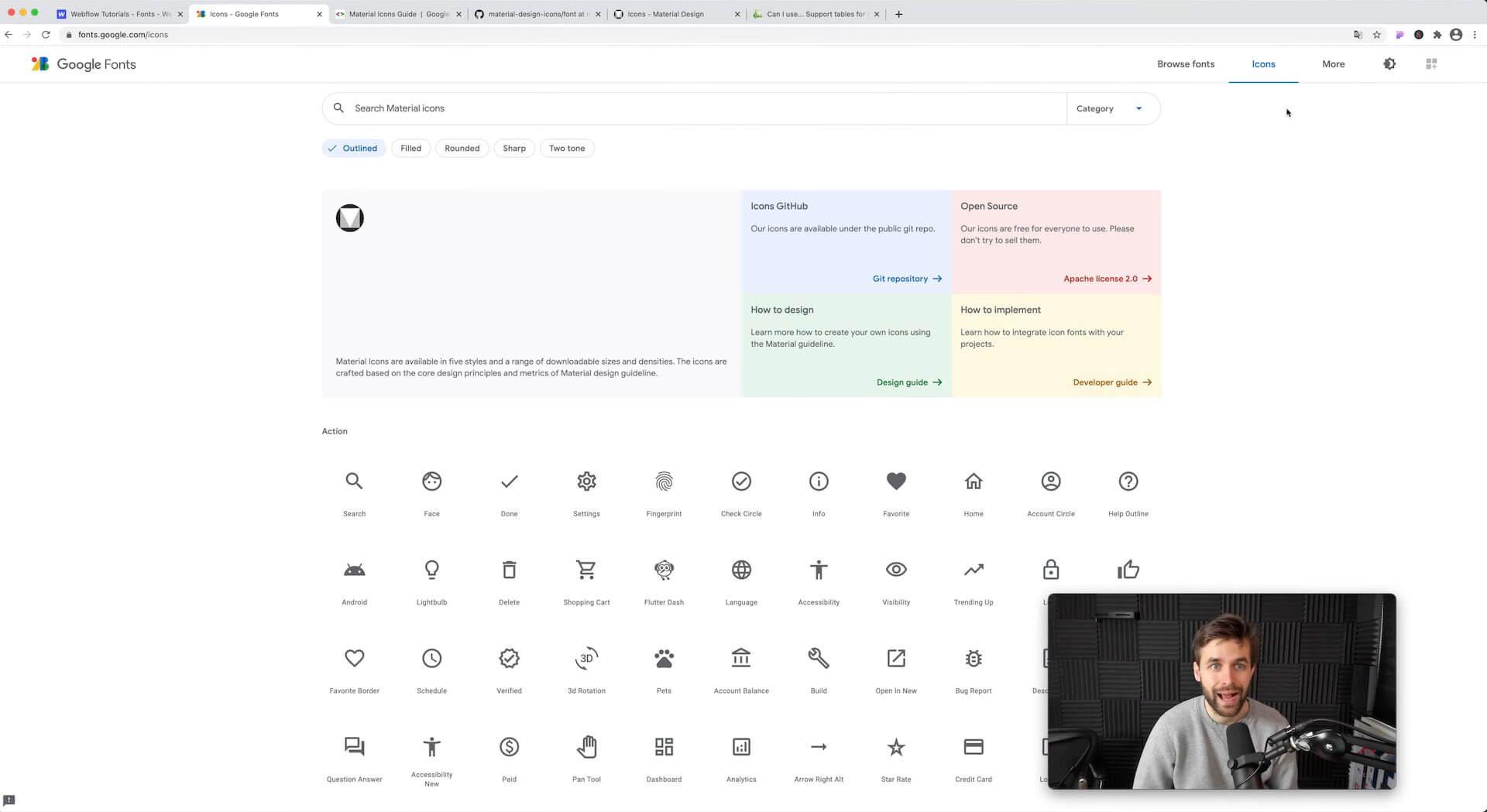 Google Font Icons