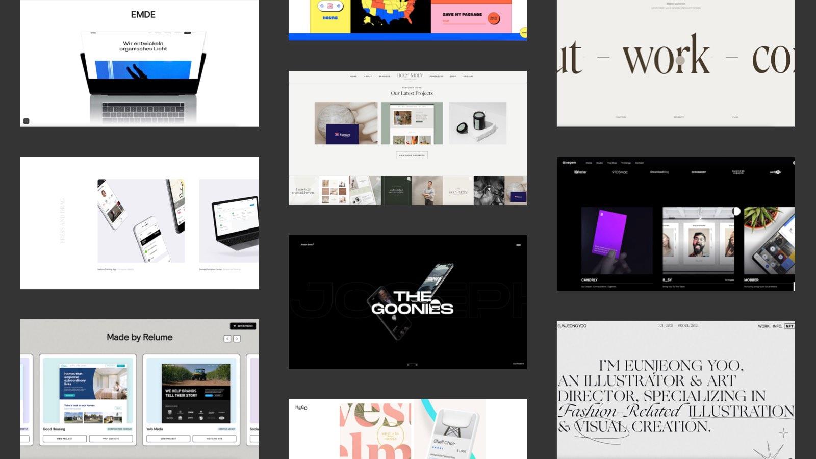 10 geniale Webflow Portfolio Websites