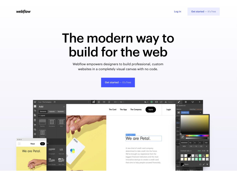 webflow.com Website Startseite
