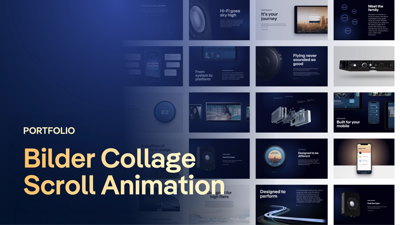 Portfolio Bilder Collage Scroll Animation