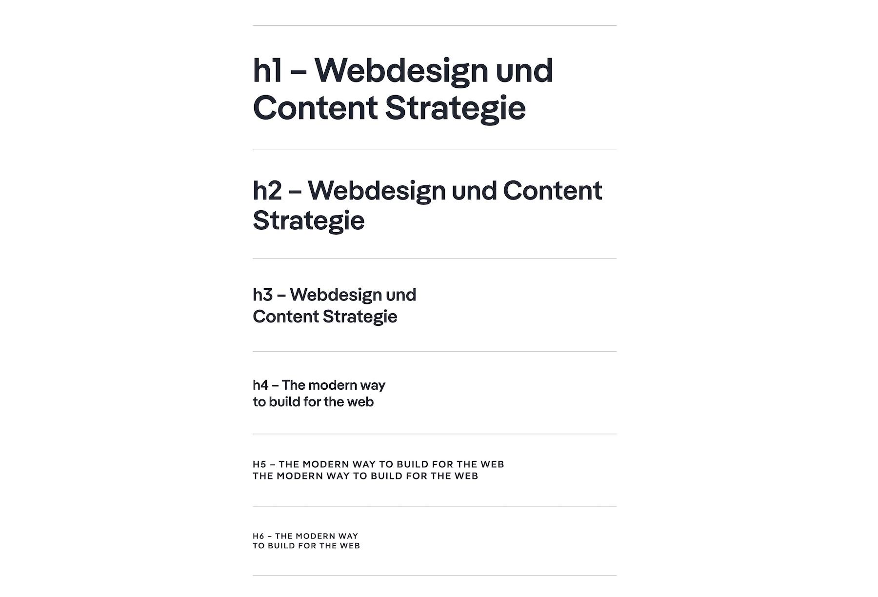 Eine logische Headline Struktur für Suchmaschinen in Webflow