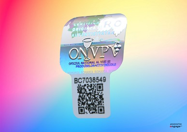 engage tamper evident Security Hologram QR code serialisation